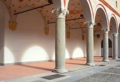 Della Rocchetta, Milán de Cortile Fotografía de archivo