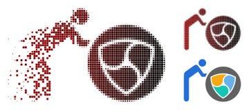 Della scintilla di Dot Halftone Person Rolling icona ALL'UNANIMITÀ illustrazione di stock