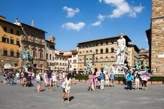 Della Signoria de la plaza en Florencia, Italia foto de archivo