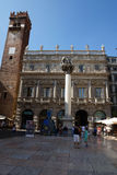 Della Signoria de la plaza en Verona, Italia, Europa Fotos de archivo