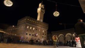Della Signoria della piazza di notte, Firenze archivi video