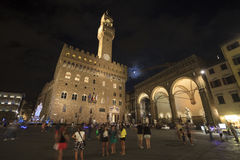Della Signoria della piazza a Firenze, Toscana Italia Immagini Stock Libere da Diritti