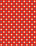 Della stella bianca di vettore EPS8 priorità bassa rossa e blu Immagine Stock Libera da Diritti
