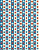Della stella bianca di vettore EPS8 priorità bassa rossa e blu Fotografia Stock