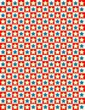 Della stella bianca di vettore priorità bassa rossa e blu Fotografie Stock Libere da Diritti