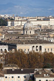 Della Valle, kerk van basilieksantandrea in Rome Lucht Mening Stock Foto