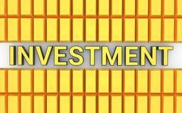 ` della verga d'oro 3d e di investimento del ` di parola illustrazione di stock