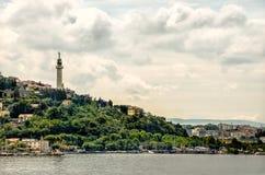 Della Vittoria Gulf de Faro de Trieste Italie Images libres de droits