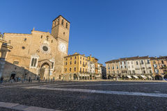 Della Vittoria, Lodi, Italia de la plaza imagenes de archivo