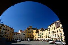 Dellanfiteatro πλατειών. Lucca, Τοσκάνη, Ιταλία. Στοκ φωτογραφίες με δικαίωμα ελεύθερης χρήσης