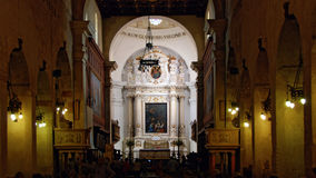 Delle Colonne di Santa Maria della cattedrale di Siracusa Fotografia Stock Libera da Diritti