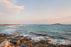 Delle Correnti, Portopalo - Sicilia de Isola Foto de archivo libre de regalías