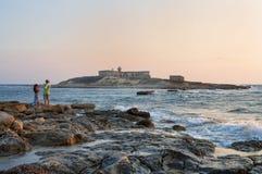 Delle Correnti, Portopalo - Sicilia de Isola Fotos de archivo libres de regalías