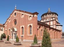 Delle Grazie de Santa María en Milano (Italia) Imagenes de archivo