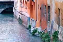 Delle Moline do canal, através de Piella, Bolonha Italy imagem de stock royalty free