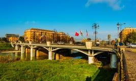 Delle Nazioni di Ponte a Parma, Italia Fotografie Stock