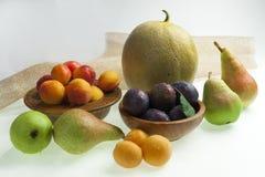 delle pere, delle albicocche, delle prugne e del melone Immagini Stock Libere da Diritti