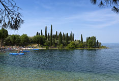 Delle Sirene, Punta San Vigilio, Garda See, Italien Parco Baia Lizenzfreies Stockbild