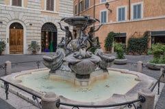 Delle Tartarughe di Fontana a Roma Immagini Stock