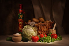 Delle verdure vita ancora fotografia stock