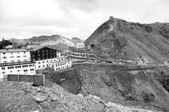 Dello Stelvio, καλοκαίρι Passo Γραπτή φωτογραφία του Πεκίνου, Κίνα στοκ εικόνες