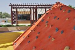 Delmapark - oranje kunstmatige heuvel Stock Afbeeldingen
