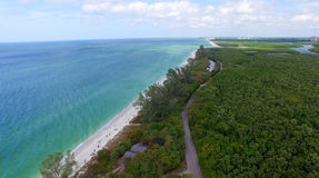 Delnor Wiggins State Park from the air, Florida Royalty Free Stock Photography