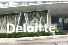 Deloitte Fotografía de archivo libre de regalías