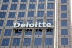 Deloitte Beskatta Företag Arkivbild