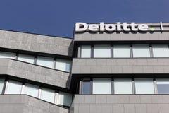 Deloitte budynek w Lion, Francja Obraz Stock