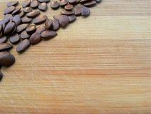 Delonix regia seeds corner Stock Image