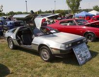1981年DeLorean侧视图 库存照片