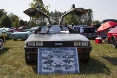 1981年DeLorean正面图 免版税图库摄影