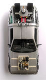 Delorean - πίσω στο μελλοντικό μέρος 3 αυτοκινήτων στοκ εικόνες