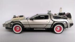 Delorean -回到未来汽车第3部分 免版税库存照片