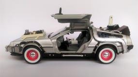 Delorean -回到未来汽车第3部分 免版税库存图片
