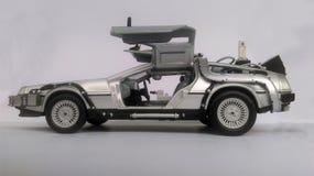 Delorean -回到未来汽车 库存图片