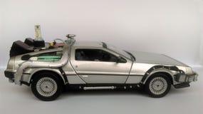 Delorean -回到未来汽车 库存照片