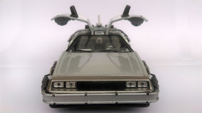 Delorean -回到未来1和2汽车 免版税库存照片