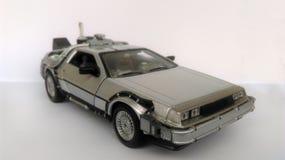 Delorean -回到未来1和2汽车 库存照片