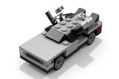 LEGO DeLorean Back to the Future. The DeLorean car from the movie Back to the Future, made of a few LEGO bricks Royalty Free Stock Photos