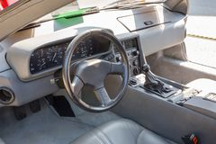 1981 Delorean-Dashboard Royalty-vrije Stock Afbeelding
