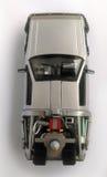 Delorean - di nuovo ai futuri 1 ed automobile 2 Fotografie Stock Libere da Diritti