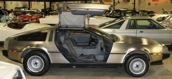 1981年DeLorean DMC-12古董跑车 库存图片