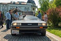 DeLorean DMC-12正面图 免版税库存图片