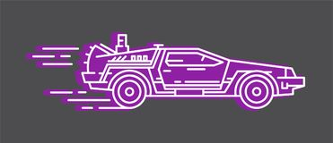 DeLorean DMC 12 stock illustrationer