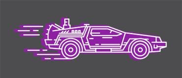 DeLorean DMC 12. Author`s Line Art. DeLorean frome Back to Future movie Stock Photography