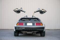DeLorean dmc-12 auto Royalty-vrije Stock Afbeeldingen