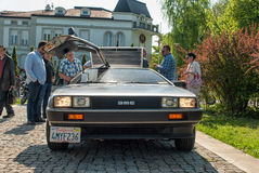 DeLorean DMC-12 front view royalty free stock images