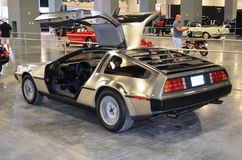 1981 Delorean DMC 12 Gullwing. A 1981 Delorean DMC 12 Gullwing on display at the International Auto Show in Miami Beach,Florida Convention Center. Photograph on stock photography